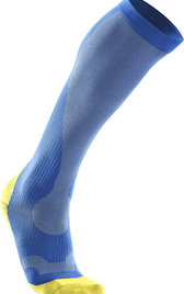 2XU Performance Run Socks Blå/Gul Herr