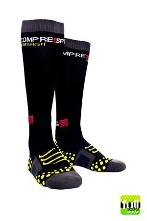 Compressport Full Socks 3D Dot Svart