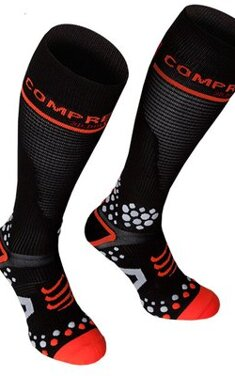 Compressport Full Socks 3D Dot Svart V2